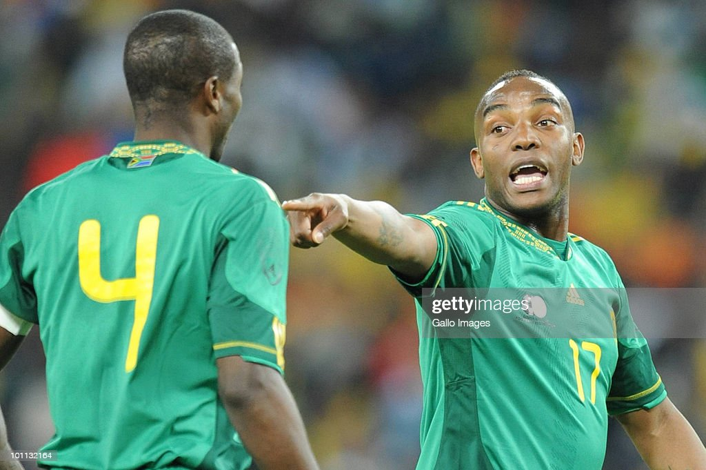 Benni McCarthy during the International friendly between South Africa and Columbia at Soccer City Stadium on May 27, 2010 in Johannesburg, South Africa.