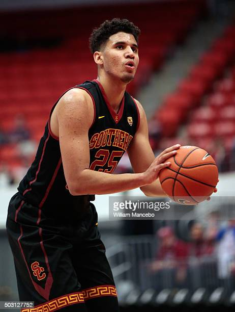 Bennie Boatwright of the USC Trojans takes a free throw against the Washington State Cougars in the second half of the game at Beasley Coliseum on...