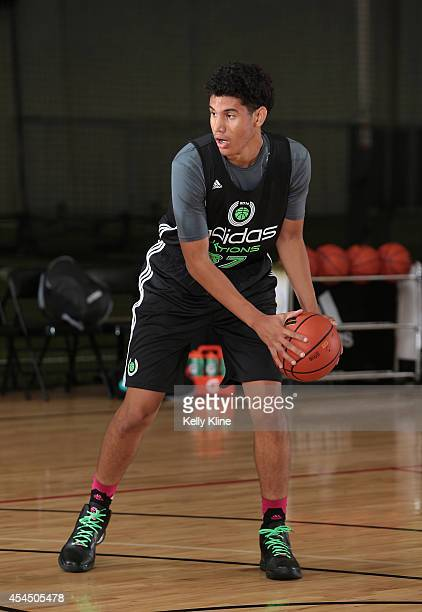 Bennie Boatwright square up at the top of the during the 2014 adidas Nations on August 1 2014 at Next Level Sports Complex in Garden Grove California