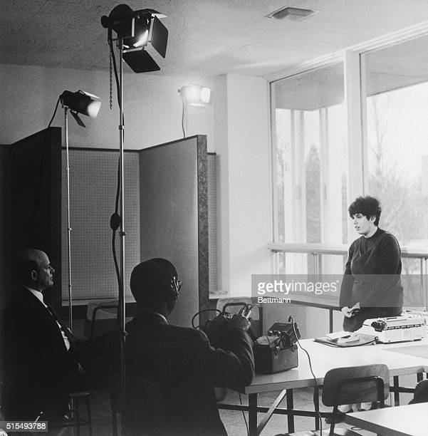 Bennington College student Andrea Dworkin shown here as she appeared for an interview with a television crew