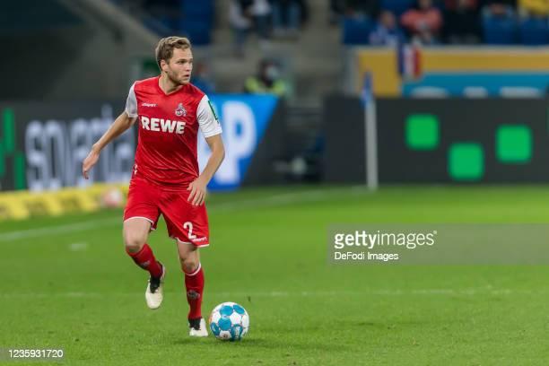 Benno Schmitz of 1.FC Koeln controls the Ball during the Bundesliga match between TSG Hoffenheim and 1. FC Köln at PreZero-Arena on October 15, 2021...