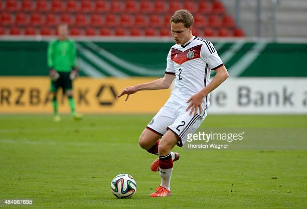 Benno Schmitz of Germany runs with the ball during the U20 international friendly match between Germany and Italy at Sparda Bank Hessen stadium on...