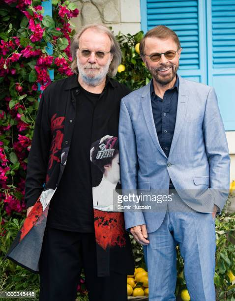"Benny Andersson and Bjorn Ulvaeus of Abba attend the UK Premiere of ""Mamma Mia! Here We Go Again"" at Eventim Apollo on July 16, 2018 in London,..."
