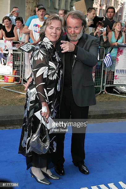 Benny Andersson and guest attend the World Premiere of Mamma Mia at The Odeon Leicester Square on June 30 2008 in London England