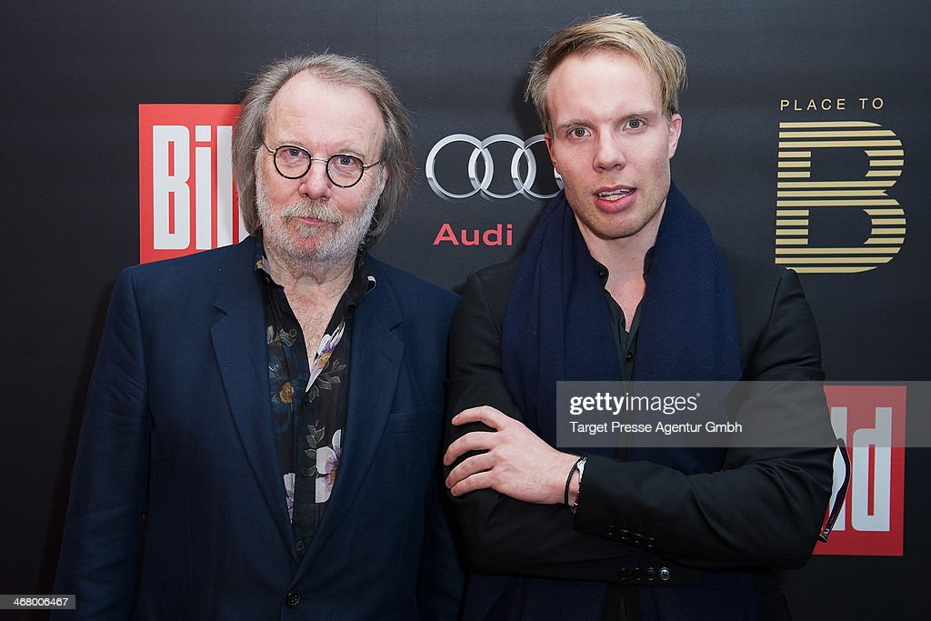 Benny Andersson and his son Ludvig Andersson attend the BILD 'Place to B' Party at Grill Royal on February 8, 2014 in Berlin, Germany.