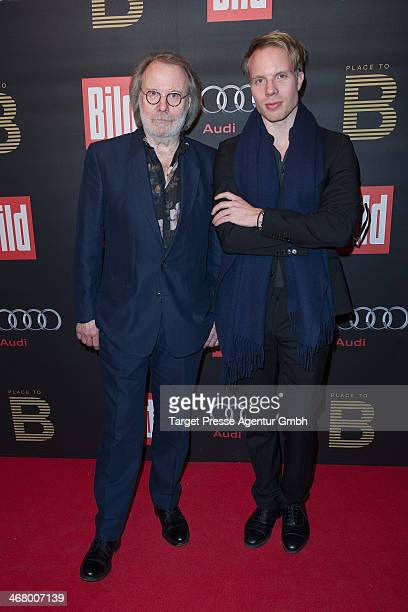 Benny Andersson and his son Ludvig Andersson attend the BILD 'Place to B' Party at Grill Royal on February 8 2014 in Berlin Germany