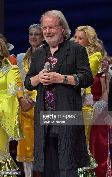 Benny Andersson attend the 20th anniversary performance of Mamma Mia at the Novello Theatre on April 6 2019 in London England