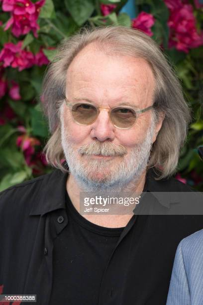 Benny Andersson attends the UK Premiere of Mamma Mia Here We Go Again at Eventim Apollo on July 16 2018 in London England