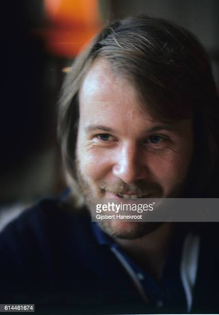 Benny Andersson of Abba backstage at a Dutch TV show 'een van de acht', The Hague, Netherlands, November 23, 1976.