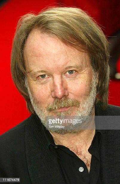 Benny Andersson of ABBA during Mamma Mia The Musical Celebrates Its Fifth Anniversary Arrivals at Prince Edward Theatre in London Great Britain