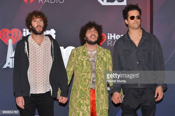 Benny Blanco and guests arrive at the 2018 iHeartRadio Music Awards which broadcasted live on TBS TNT and truTV at The Forum on March 11 2018 in...