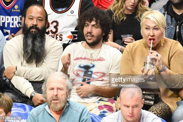 Benny Blanco attends a basketball game between the Los Angeles Clippers and the Utah Jazz at Staples Center on November 03 2019 in Los Angeles...
