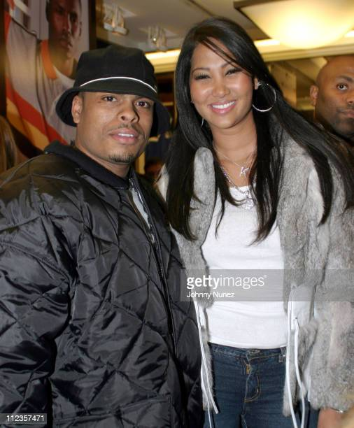 Benny Boom and Kimora Lee Simmons during Phat Farm Store Grand ReOpening at Phat Farm Store in New York City New York United States