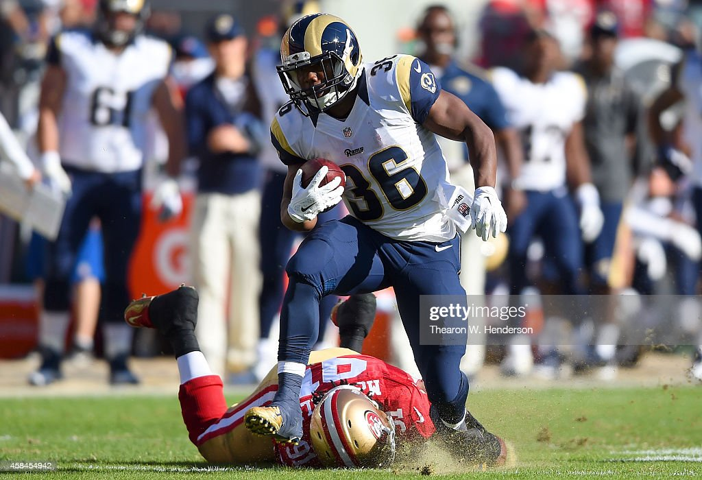 Benny Cunningham #36 of the St. Louis Rams carries the ball against the San Francisco 49ers during the second quarter at Levi's Stadium on November 2, 2014 in Santa Clara, California.