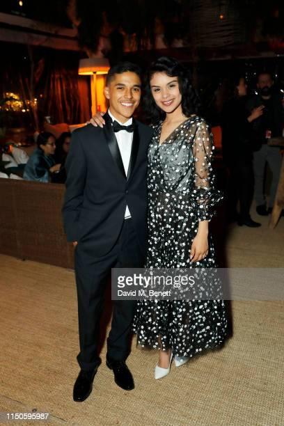 Benny Emmanuel and Leidi Gutierrez at Nikki Beach for the Chicuarotes premiere party on May 20 2019 in Cannes France