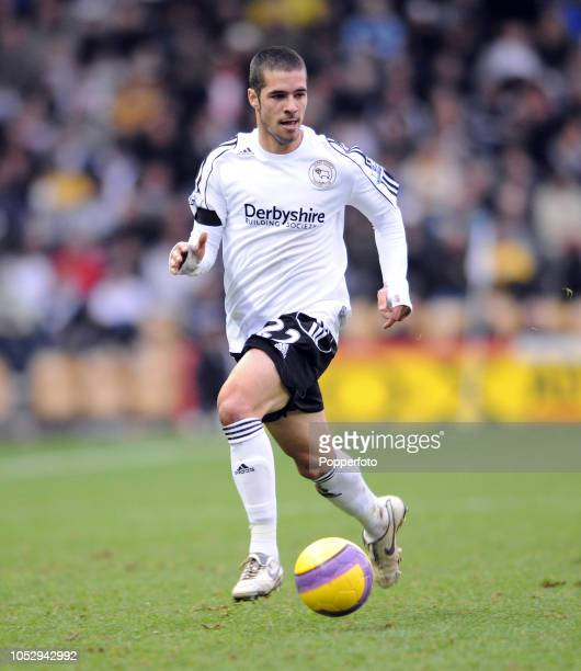 Benny Feilhaber of Derby in action during the Barclays Premier League match between Derby County and Blackburn Rovers at Pride Park in Derby England...