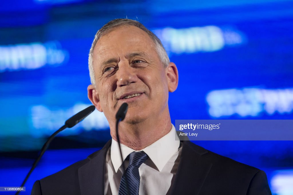 Benny Gantz Holds His Election Campaign Closing Rally : News Photo