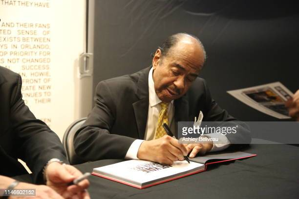 Benny Golson signs autographs at Art Kane Harlem 1958 at the GRAMMY Museum at The GRAMMY Museum on May 02 2019 in Los Angeles California