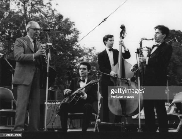 Benny Goodman, Capital Radio Jazz Festival, Knebworth, 1982. Artist Denis Williams.