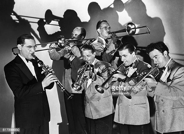 Benny Goodman performs with a band in the motion picture The Gang's All Here