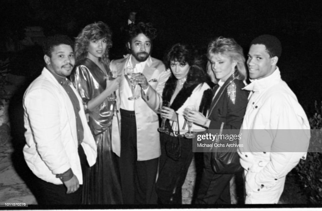 Benny Medina Sherry Mollins Morris Day Appolonia Kotero Appolonia's girlfirend Gary Ashby and Shirlie Holliman for a portrait session in 1986 in Los...