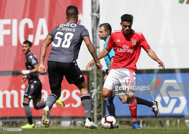 Benny of SL Benfica B in action during the Ledman Liga Pro match between SL Benfica B and Vitoria SC B at Caixa Futebol Campus on May 11 2019 in...