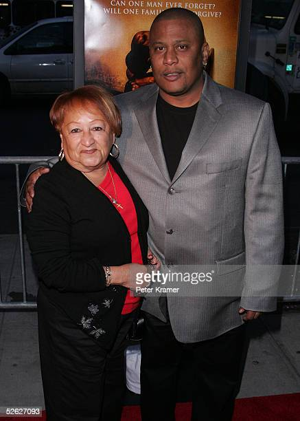 Benny Paret Jr and Lucy Paret attend the premiere of Ring of Fire The Emile Griffith Story on April 13 2005 in New York City