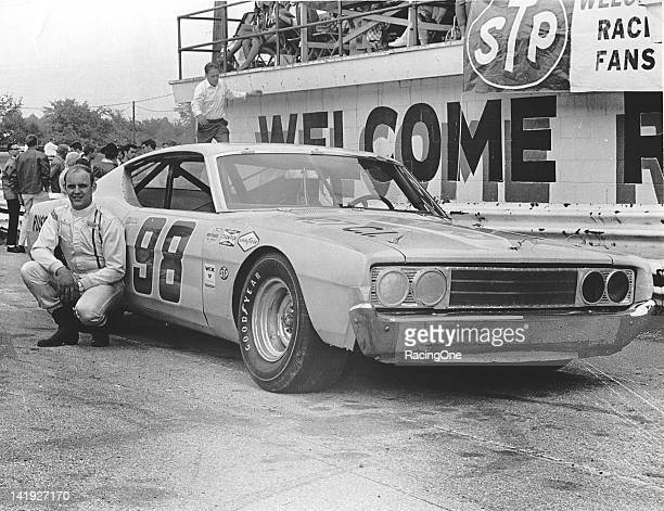 Benny Parson with the Ford Torino he drove on the Automobile Club of America circuit in the late-1960s. Parsons was the 1968 and 1969 ARCA champion.