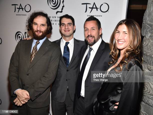 Benny Safdie Josh Safdi Adam Sandler and Jackie Sandler attend the 2019 New York Film Critics Circle Awards at TAO Downtown on January 07 2020 in New...