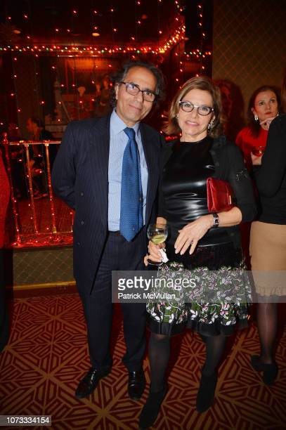 Benny Tabatabai and Diane Tuft attend George Farias Anne Jay McInerney Host A Holiday Party at The Doubles Club on December 13 2018 in New York City