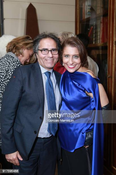 Benny Tabatabai and Muna Rihani AlNasser during the Susan Gutfreund Hosts UN Women For Peace Association Reception on February 12 2018 in New York...