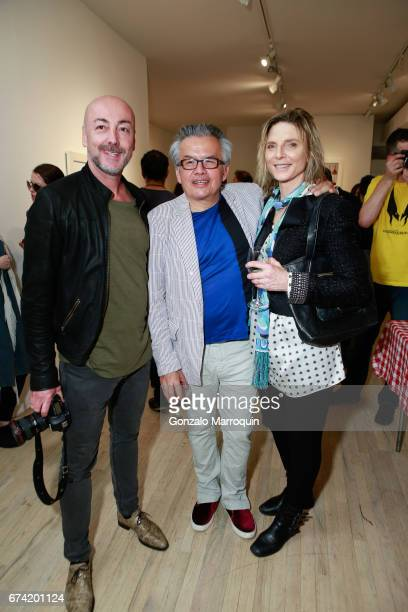 Benny Tache Ral and Emma Zamudio attend the Swiss Wine Valais Loves New York hosted by Gregory de la Haba Billy The Artist Anthony HadenGuest and...