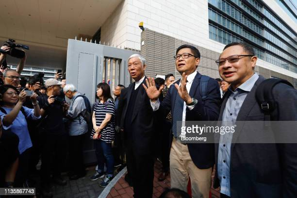 Benny Tai associate professor of law at the University of Hong Kong and cofounder of activist group Occupy Central with Love and Peace from right...
