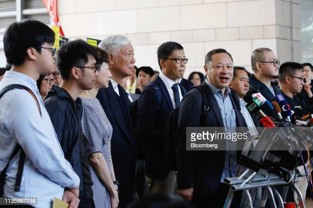 Benny Tai associate professor of law at the University of Hong Kong and cofounder of activist group Occupy Central with Love and Peace fourth right...