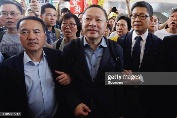 Benny Tai associate professor of law at the University of Hong Kong and cofounder of activist group Occupy Central with Love and Peace center Chan...