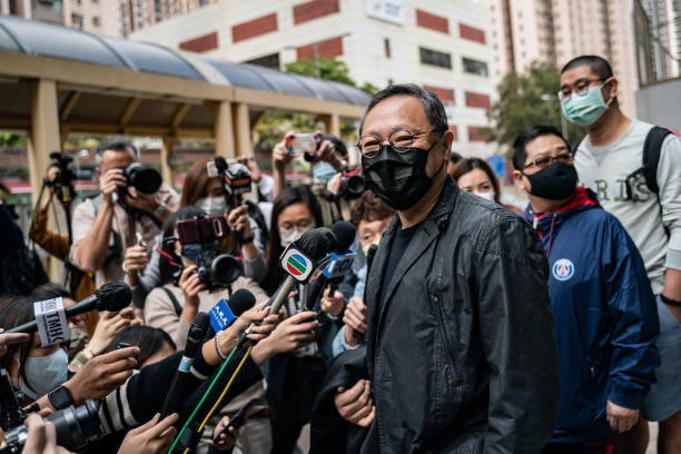 CHN: HK Opposition Figures Arrested In Security Sweep Appear At Court