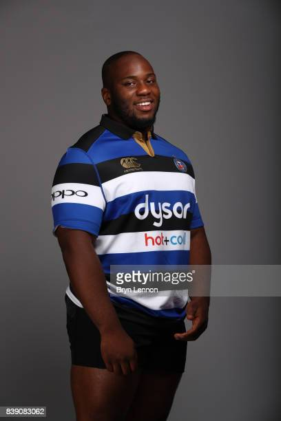 Beno Obano of Bath poses during a photocall on August 22 2017 in Bath England