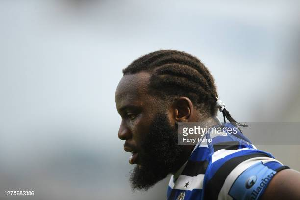 Beno Obano of Bath Rugby during the Gallagher Premiership Rugby match between Bath Rugby and Gloucester Rugby at The Recreation Ground on September...