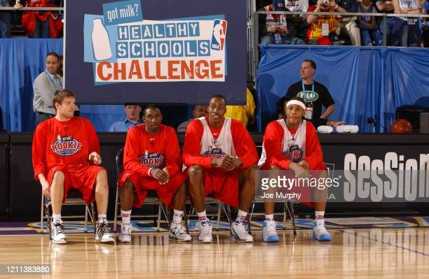 Beno Udrih of the San Antonio Spurs, Ben Gordon of the Chicago Bulls, Dwight Howard of the Orlando Magic and Carmelo Anthony of the Denver Nuggets...
