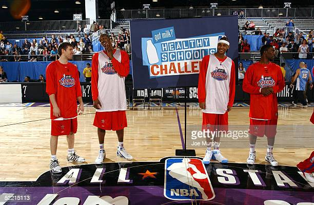 Beno Udrih of the San Antonio Spurs, Dwight Howard of the Orlando Magic, Carmelo Anthony of the Denver Nuggets and Ben Gordon of the Chicago Bulls...