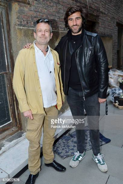 Benoist F Drut and Archibald Pearson attend the Opening of 'Muse in the Mews' curated by James Salomon at The Printing House on April 19 2017 in New...