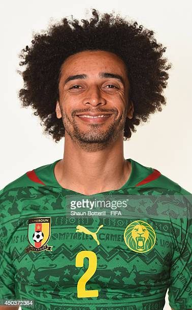Benoit Assou Ekotto of Cameroon poses during the official FIFA World Cup 2014 portrait session on June 9 2014 in Vitoria Brazil