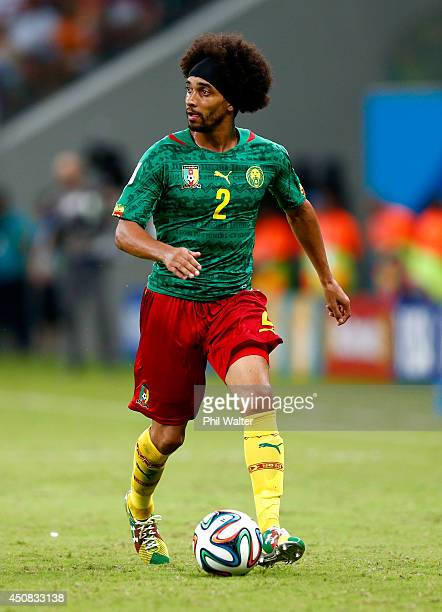 Benoit AssouEkotto of Cameroon controls the ball during the 2014 FIFA World Cup Brazil Group A match between Cameroon and Croatia at Arena Amazonia...