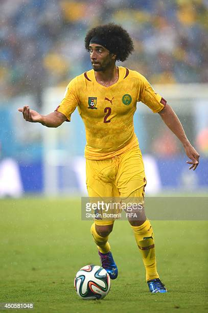 Benoit AssouEkotto of Cameroon during the 2014 FIFA World Cup Brazil Group A match between Mexico and Cameroon at Estadio das Dunas on June 13 2014...