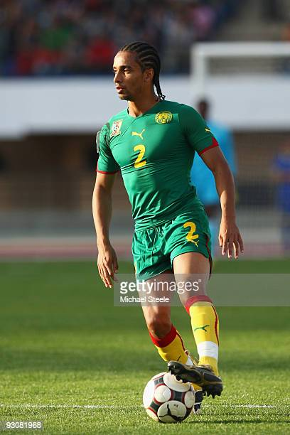 Benoit AssouEkotto of Cameroon during the Morocco v Cameroon FIFA2010 World Cup Group A qualifying match at the Complexe Sportif on November 14 2009...