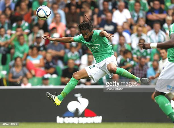 Benoit AssouEkotto of SaintEtienne in action during the French Ligue 1 match between AS SaintEtienne and FC Girondins de Bordeaux at Stade...