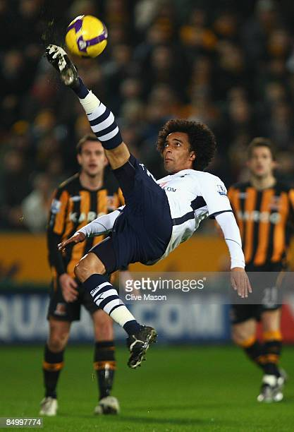 Benoit AssouEkotto of Tottenham Hotspur in action during the Barclays Premier League match between Hull City and Tottenham Hotspur at The KC Stadium...