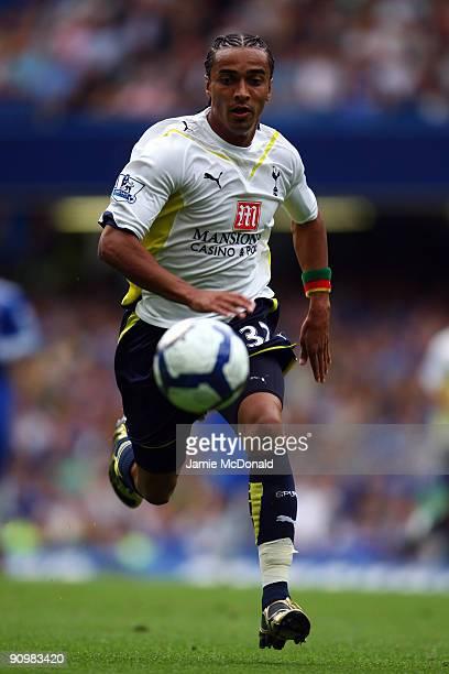 Benoit AssouEkotto of Tottenham Hotspur in action during the Barclays Premier League match between Chelsea and Tottenham Hotspur at Stamford Bridge...