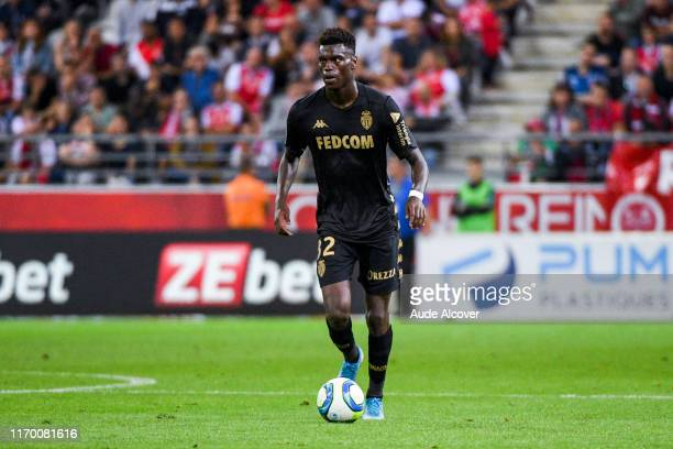 Benoit BADIASHILE MUKINAYI of Monaco during the Ligue 1 match between Reims and Monaco on September 21, 2019 in Reims, France.