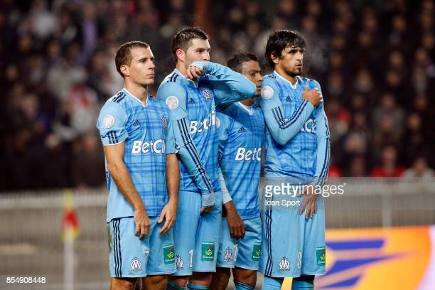 Benoit CHEYROU / Andre Pierre GIGNAC / Fabrice ABRIEL / Lucho GONZALEZ PSG / Marseille 12eme journee de Ligue1